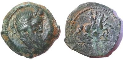 Bronze Tatinos des Rutènes et les deniers Titia et Marcia