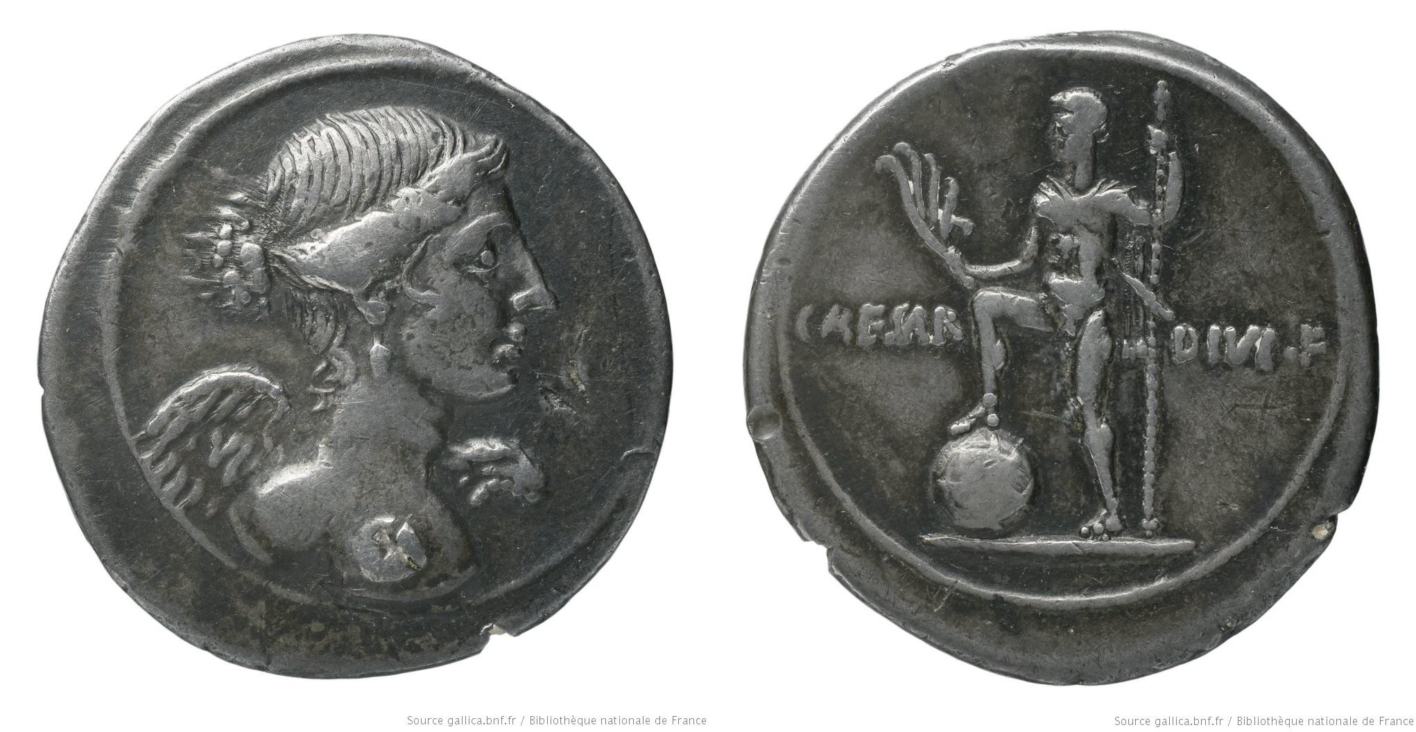 2009AU – Denier Octave – Caius Julius Cæsar Octavianus