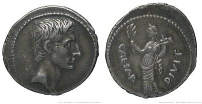2004AU – Denier Octave – Caius Julius Cæsar Octavianus