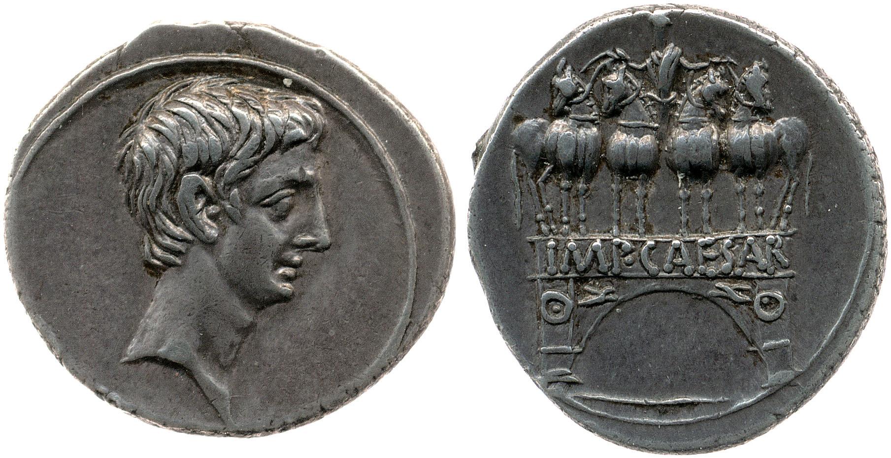 2021AU – Denier Octave – Caius Julius Cæsar Octavianus