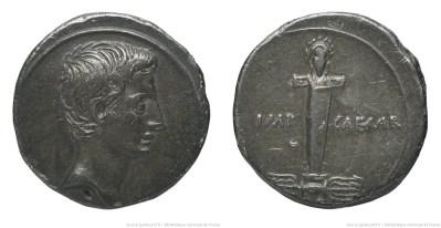 2023AU – Denier Octave – Caius Julius Cæsar Octavianus