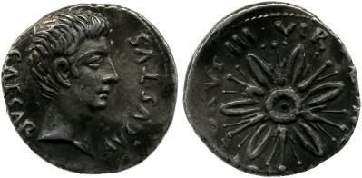 2066AU – Denier Auguste – L.Aquillius Florus