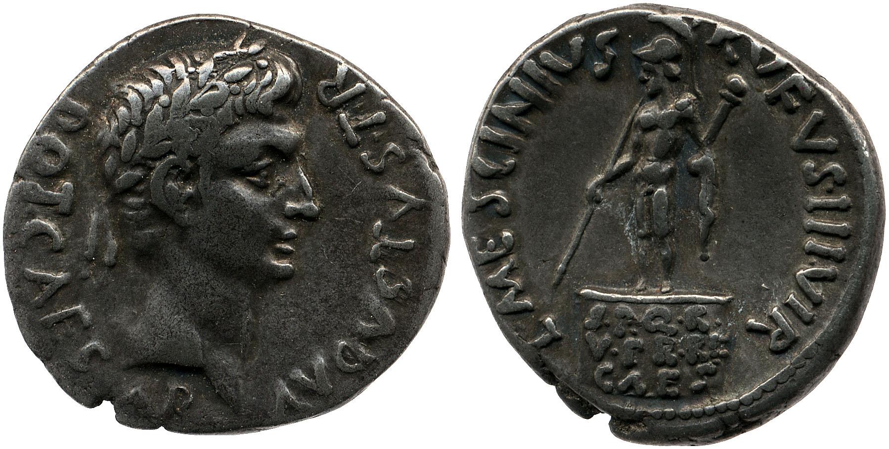 2100AU – Denier Auguste – L. Mescinius Rufus