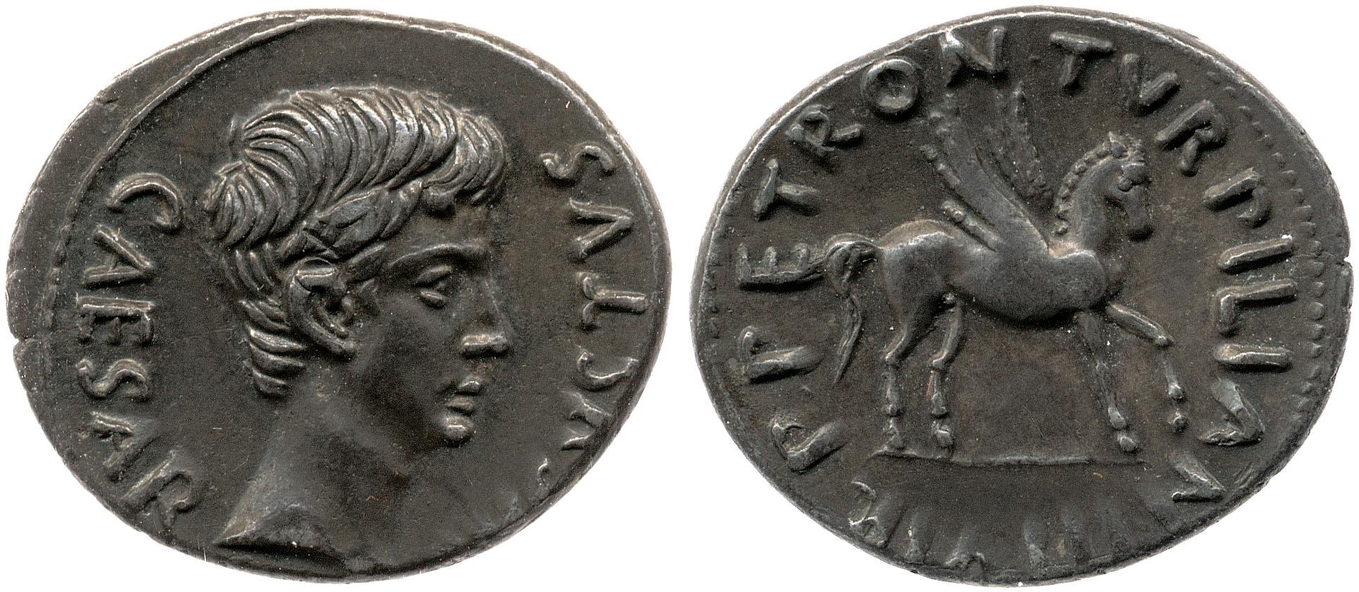2054AU – Denier Auguste – P.Petronius Turpilianus
