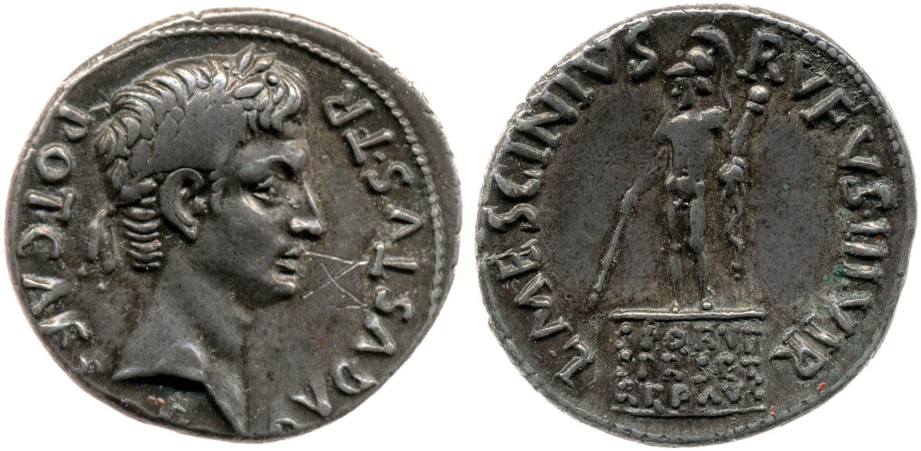 2101AU – Denier Auguste – L. Mescinius Rufus