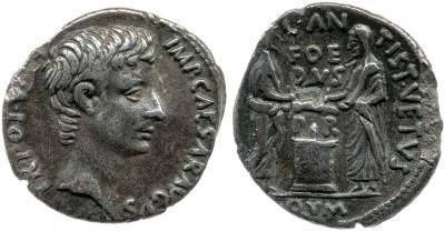 2110AU – Denier Auguste – C. Antistius Vetus