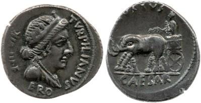 2040AU – Denier Auguste – P.Petronius Turpilianus