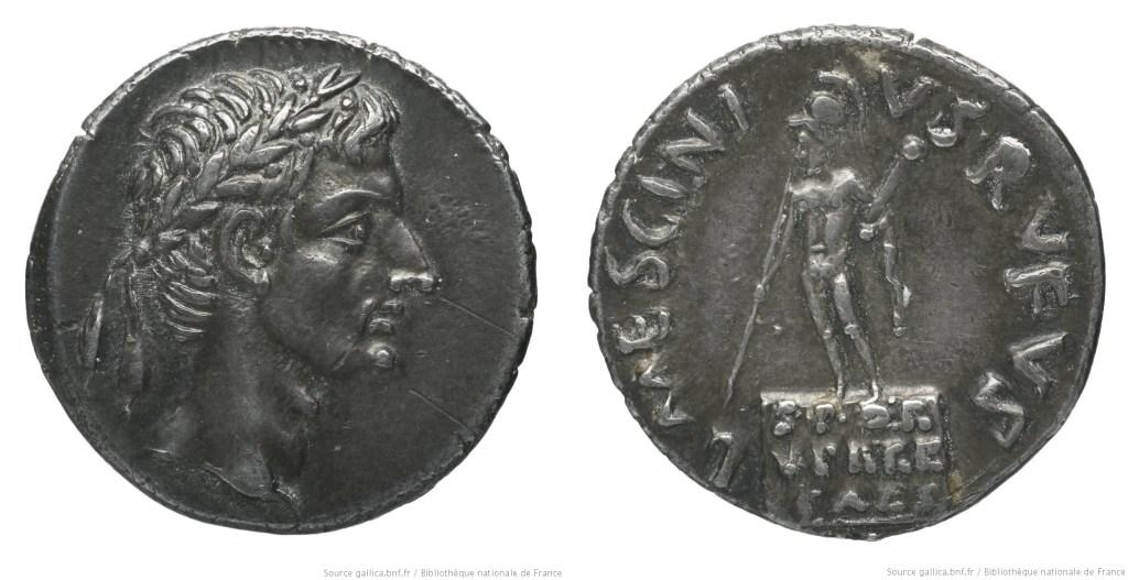 2099AU – Denier Auguste – L. Mescinius Rufus