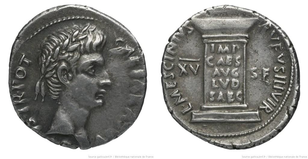 2102AU – Denier Auguste – L. Mescinius Rufus