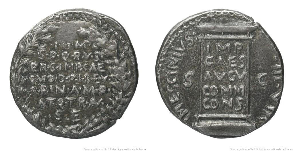 2105AU – Denier Auguste – L. Mescinius Rufus