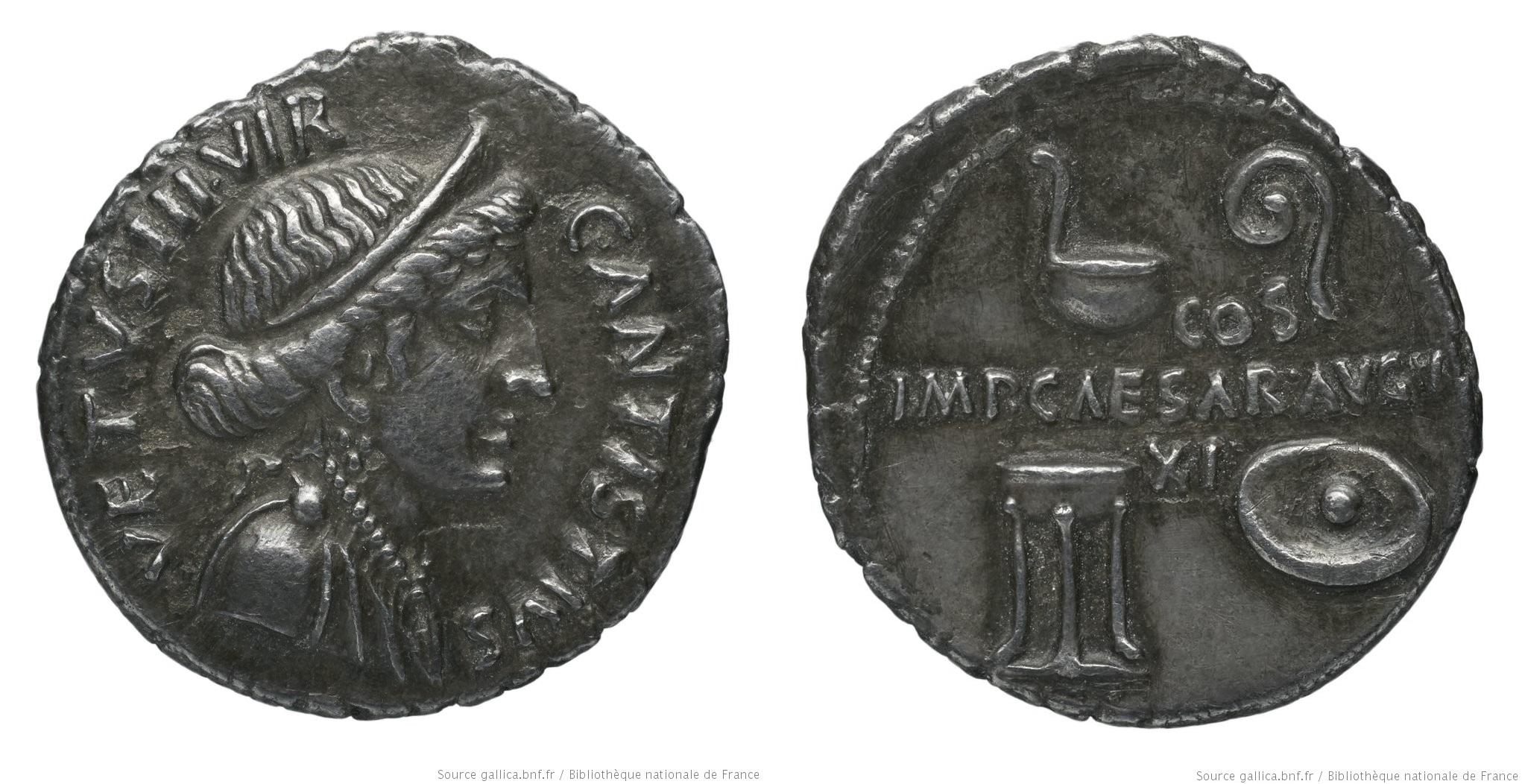 2113AU – Denier Auguste – C. Antistius Vetus
