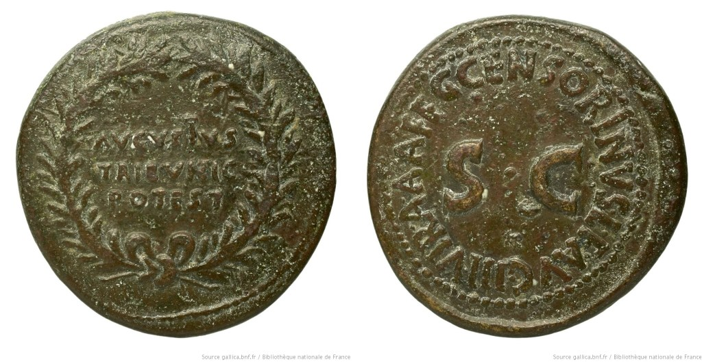 2083AU – Dupondius Auguste – C.Marcius Censorinus