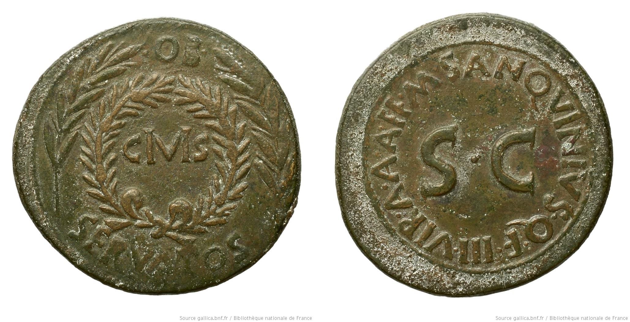 2089AU – Sesterce Auguste – M.Sanquinius