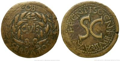 2124AU – Sesterce Auguste – Cnaeus Calpurnius Piso