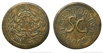 2130AU – Sesterce Auguste – C. Plotius Rufus