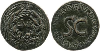 2127AU – Sesterce Auguste – L. Naevius Surdinus