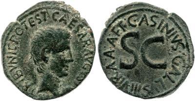2117AU – As Auguste – C. Asinius Gallus