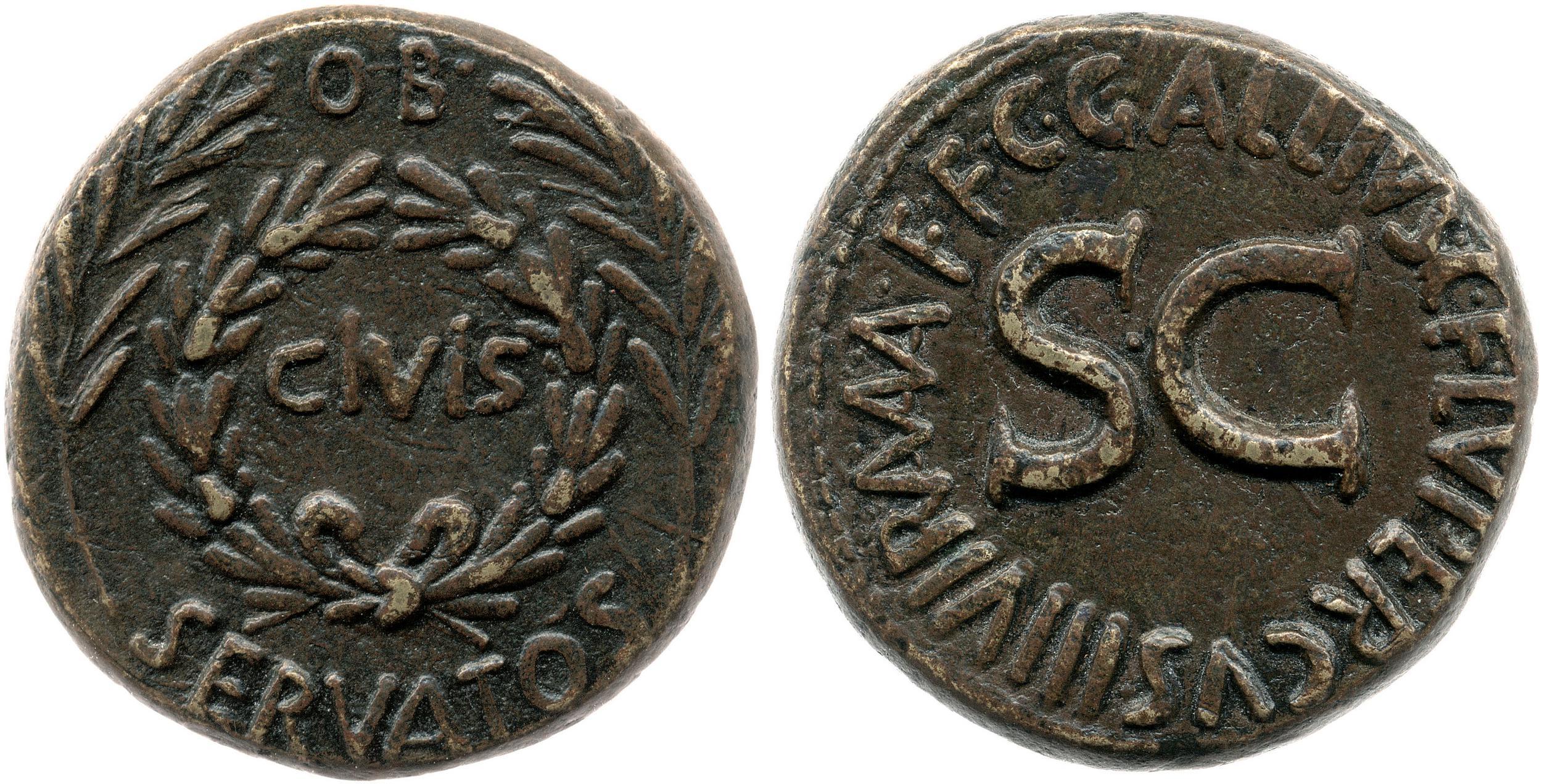 2121AU – Sesterce Auguste – C. Gallius Lupercus
