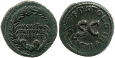 2095AU – Dupondius Auguste – P.Licinius Stolo