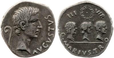 2144AU – Denier Auguste – C. Marius Tromentina