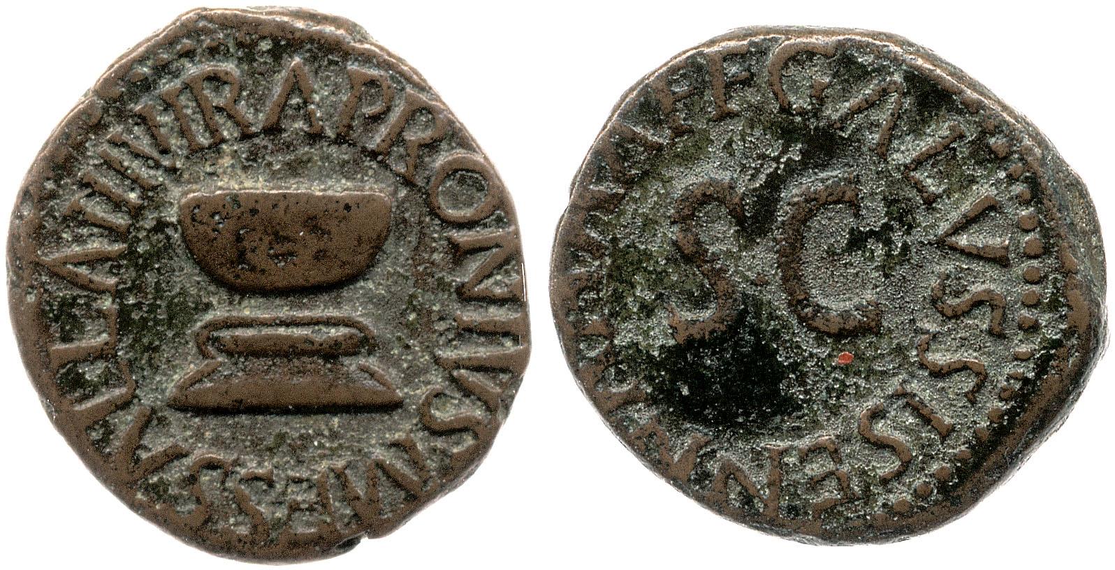 2179AU – Quadrans Auguste – Apronius, Galus, Messalla et Sisenna
