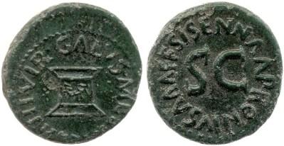 2186AU – Quadrans Auguste – Apronius, Galus, Messalla et Sisenna