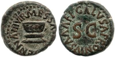 2194AU – Quadrans Auguste – Apronius, Galus, Messalla et Sisenna