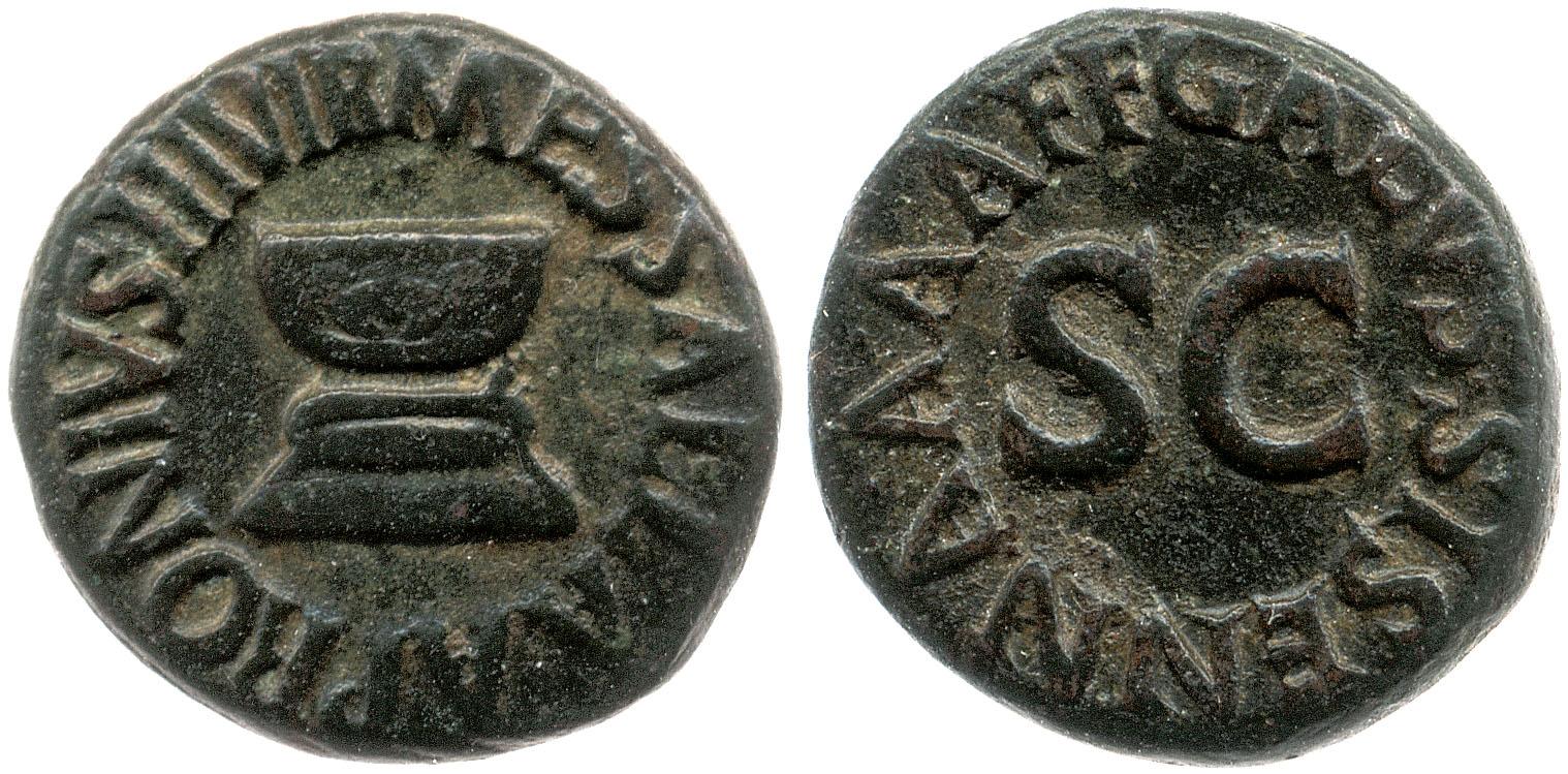 2189AU – Quadrans Auguste – Apronius, Galus, Messalla et Sisenna
