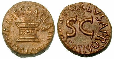 2184AU – Quadrans Auguste – Apronius, Galus, Messalla et Sisenna