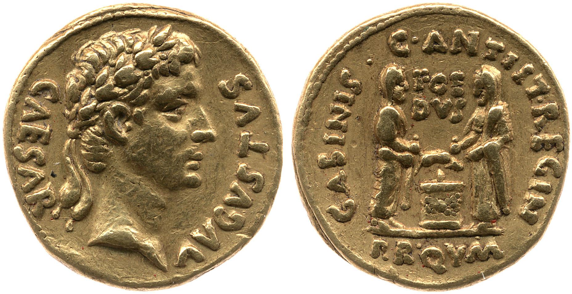 2150AU – Aureus Auguste – C. Antistius Reginus