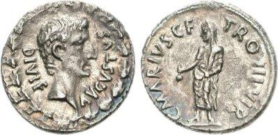 2141AU – Denier Auguste – C. Marius Tromentina
