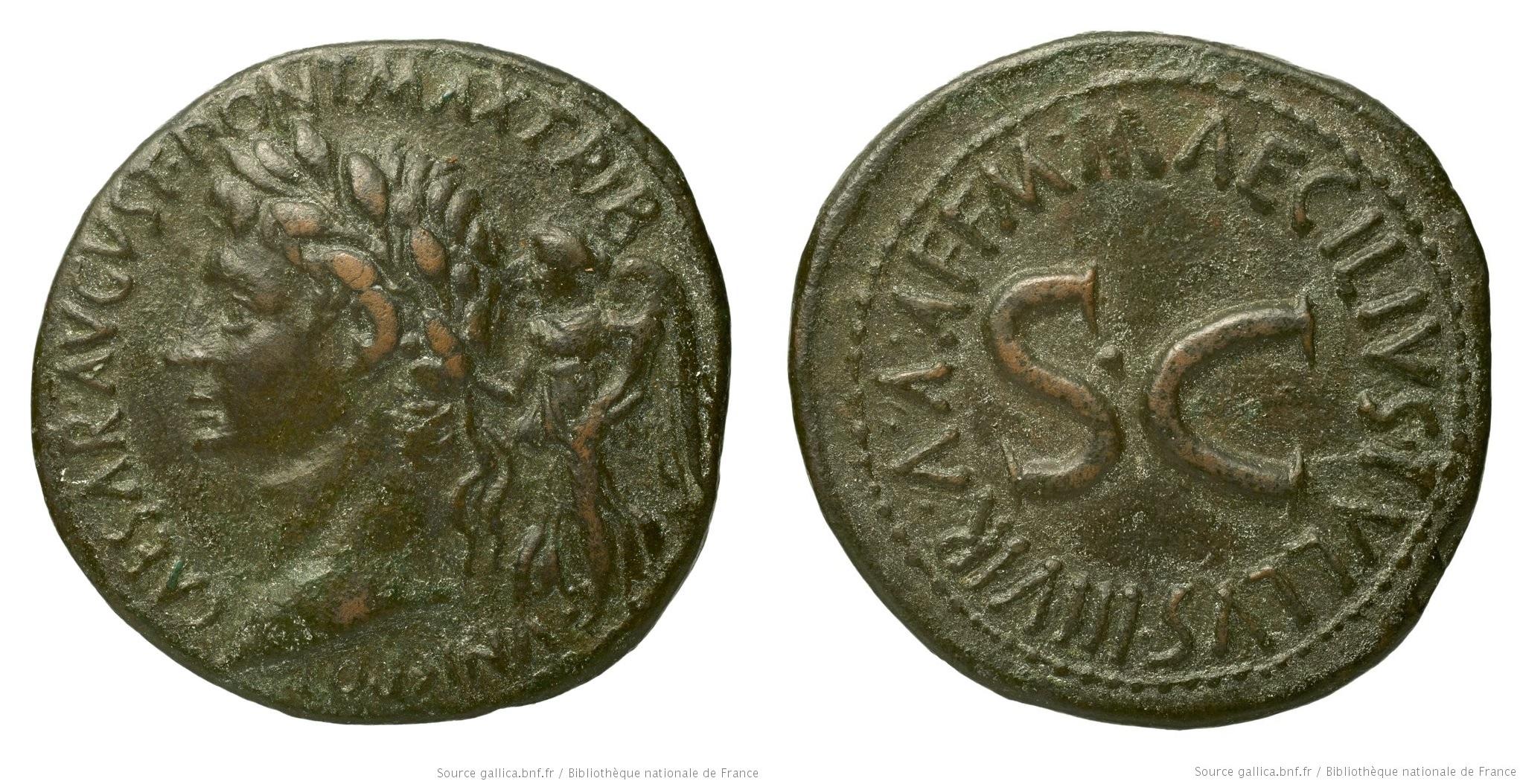 2170AU – Sesterce Auguste – M. Maecilius Tullus
