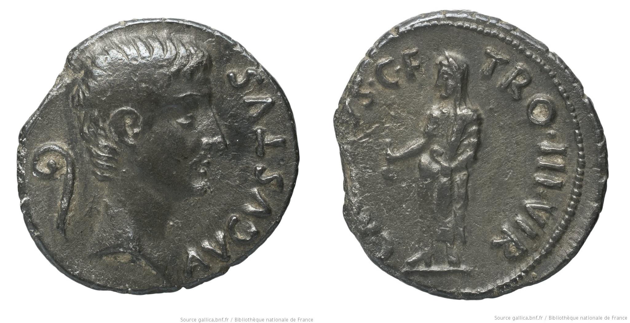 2138AU – Denier Auguste – C. Marius Tromentina