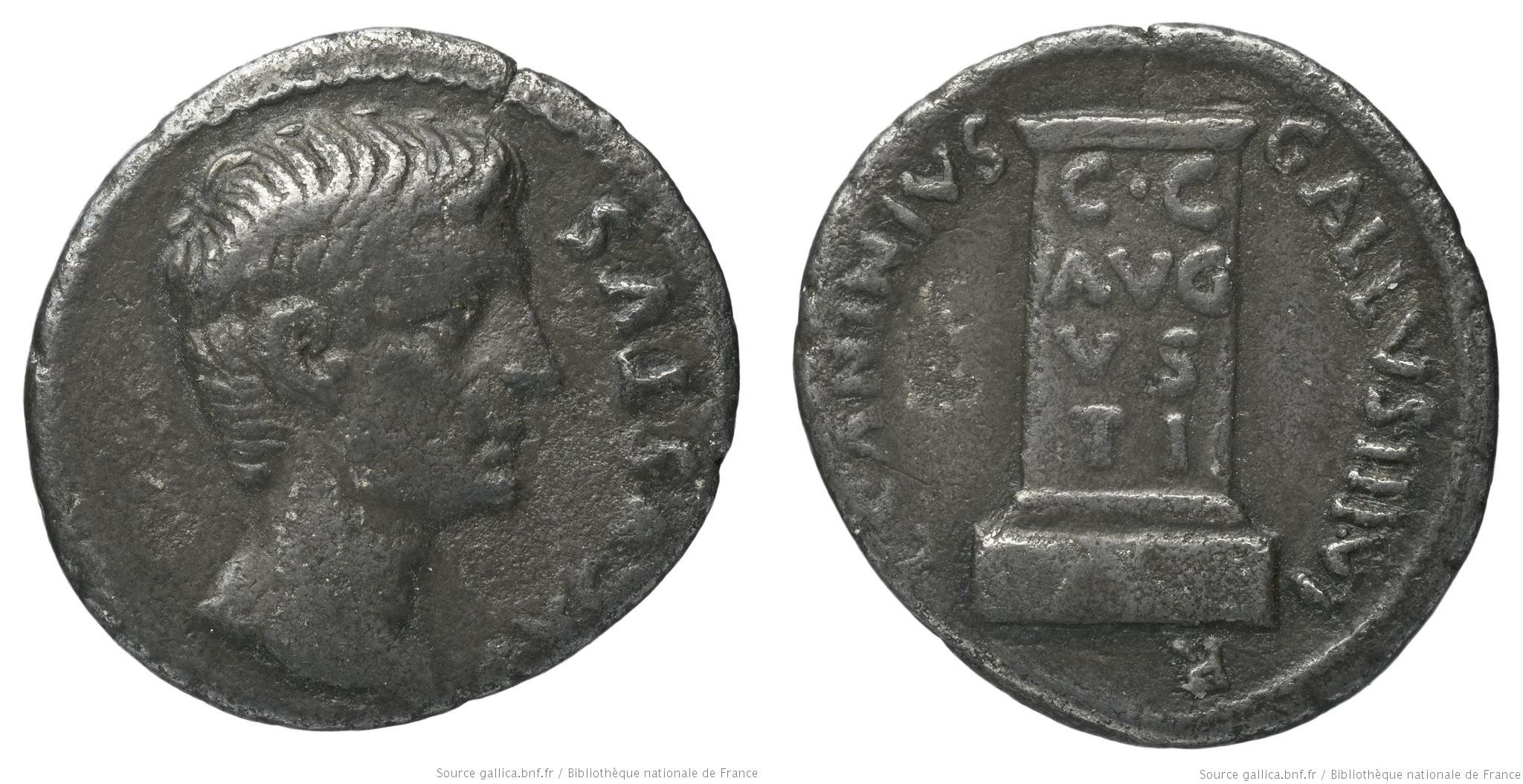 2156AU – Denier Auguste – C. Caninius Gallus