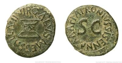 2185AU – Quadrans Auguste – Apronius, Galus, Messalla et Sisenna