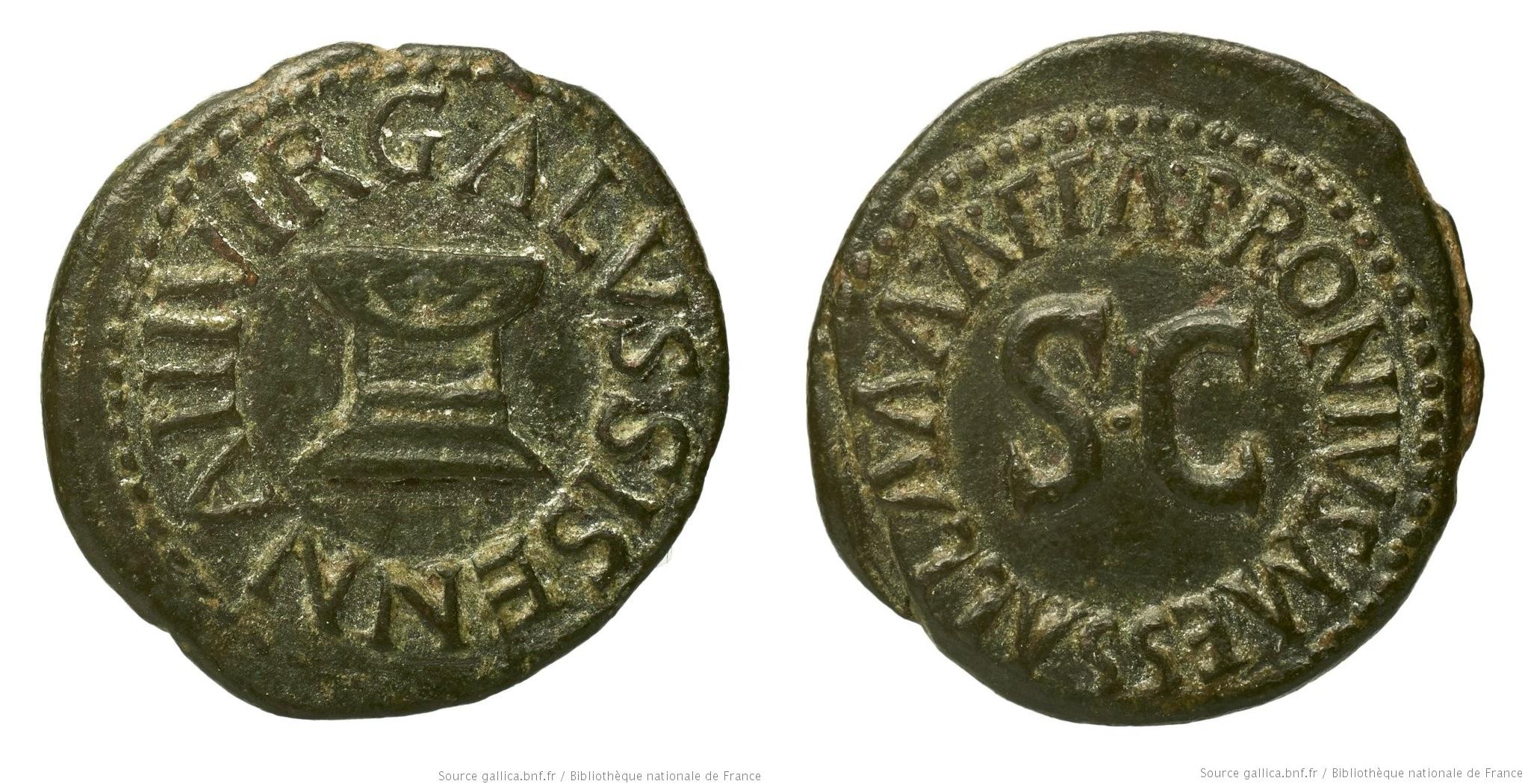 2187AU – Quadrans Auguste – Apronius, Galus, Messalla et Sisenna