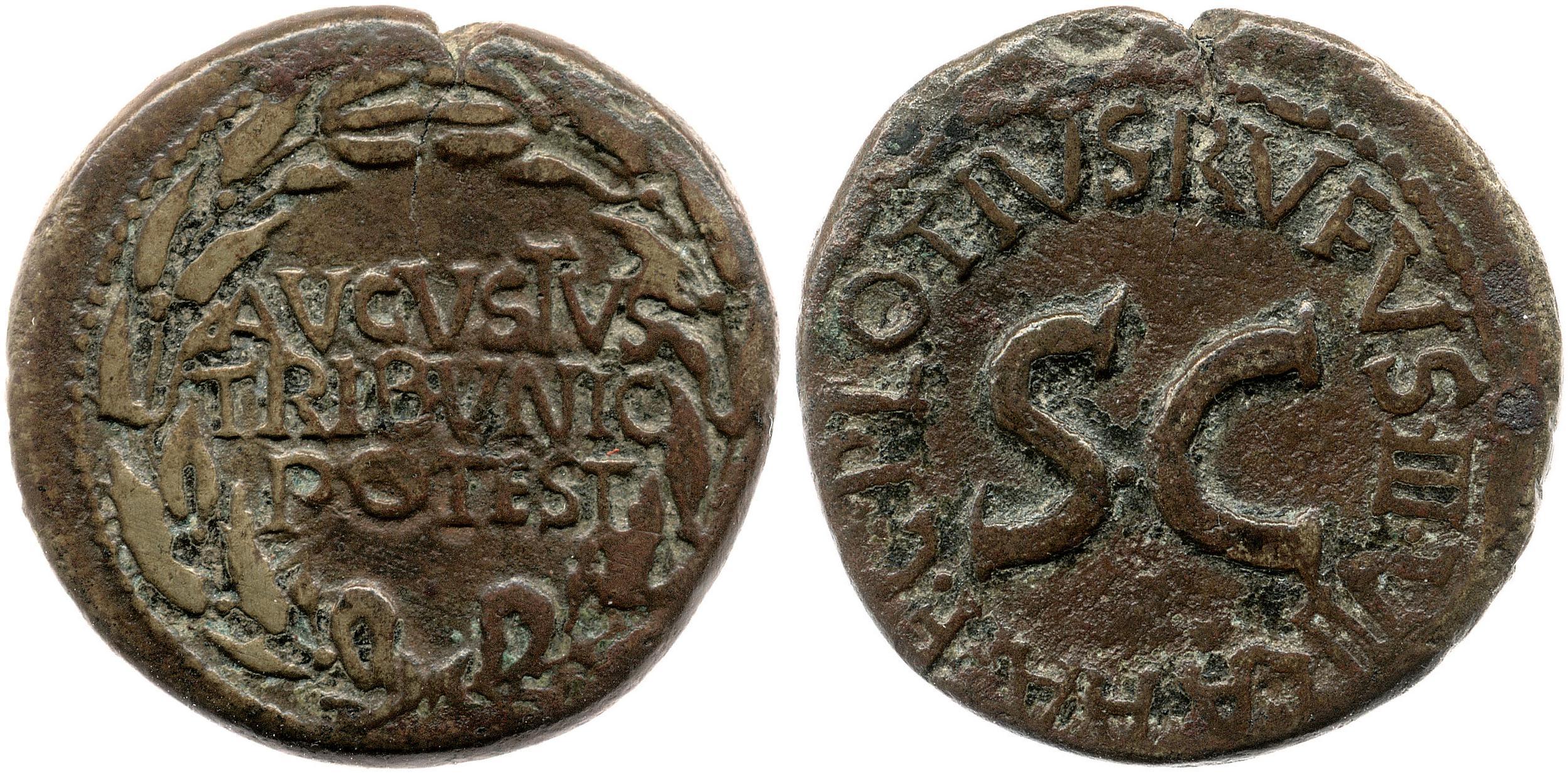 2131AU – Dupondius Auguste – C. Plotius Rufus