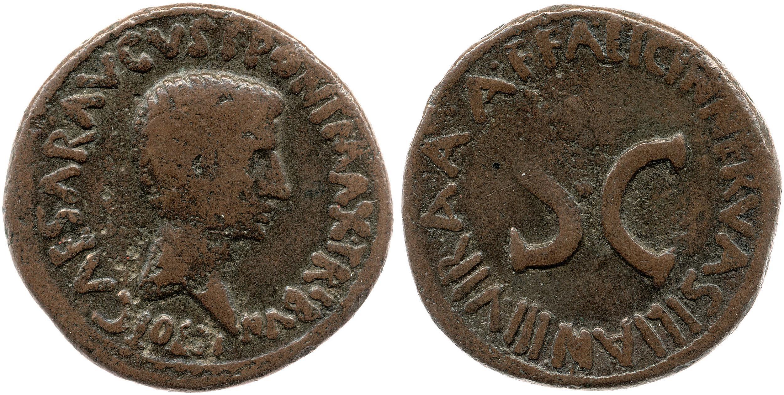 2173AU – As Auguste – A. Licinius Nerva Silianus