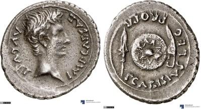 2438AU – Denier Auguste – P. Carisius