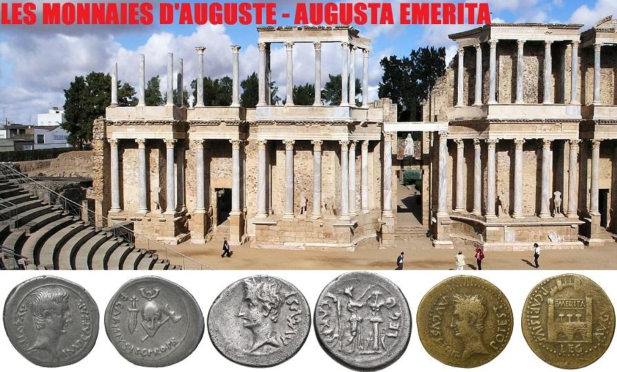 Les monnaies d'Auguste – Emerita Augusta