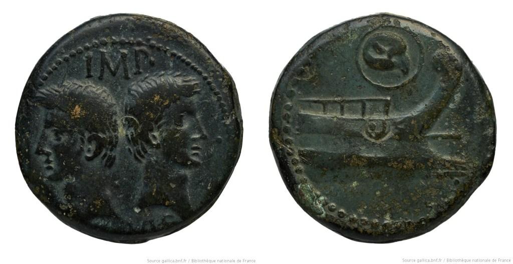 2554AU – Dupondius Octave et Agrippa – Orange (Arausio)