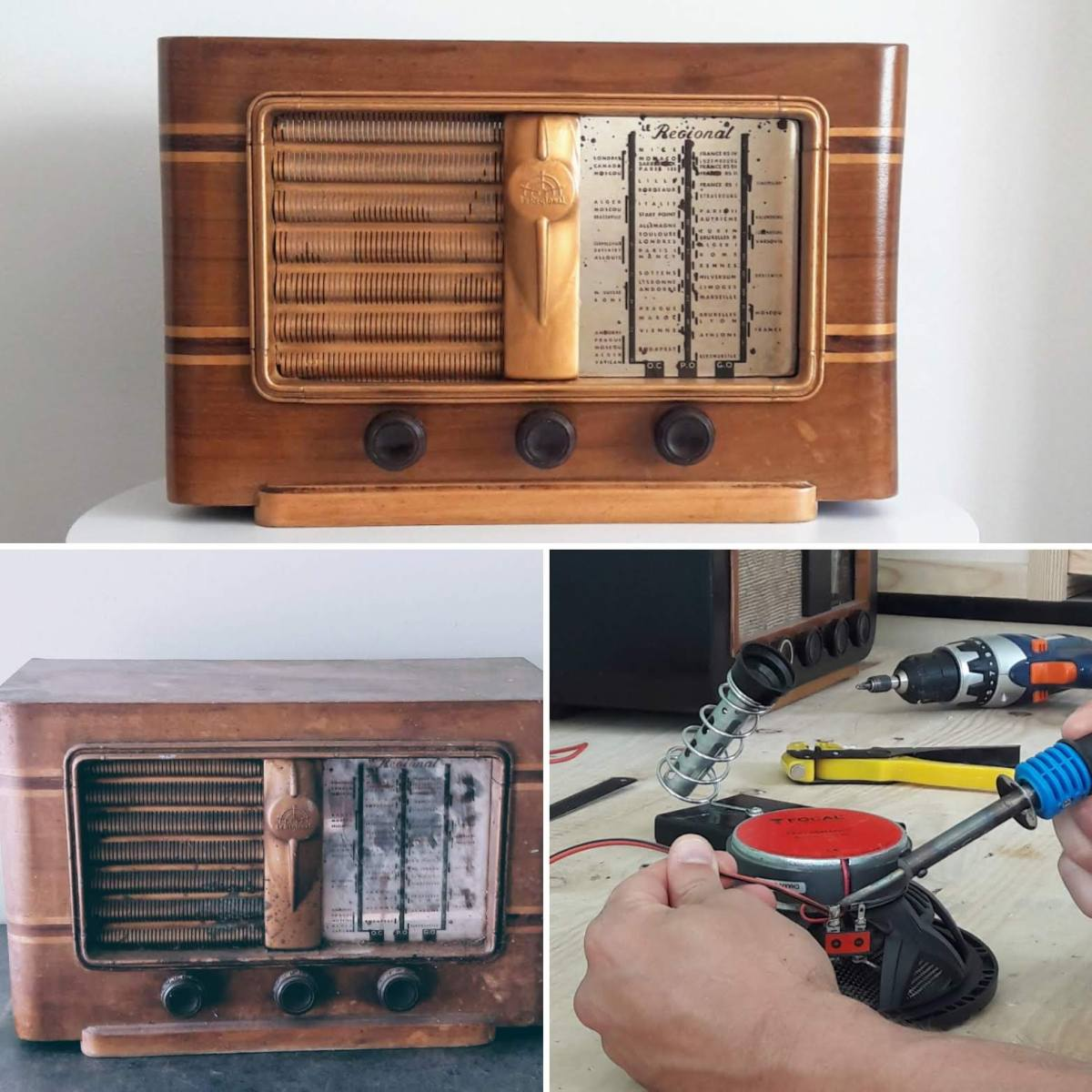 Rénovation transformation poste radio vintage bluetooth LES DOYENS