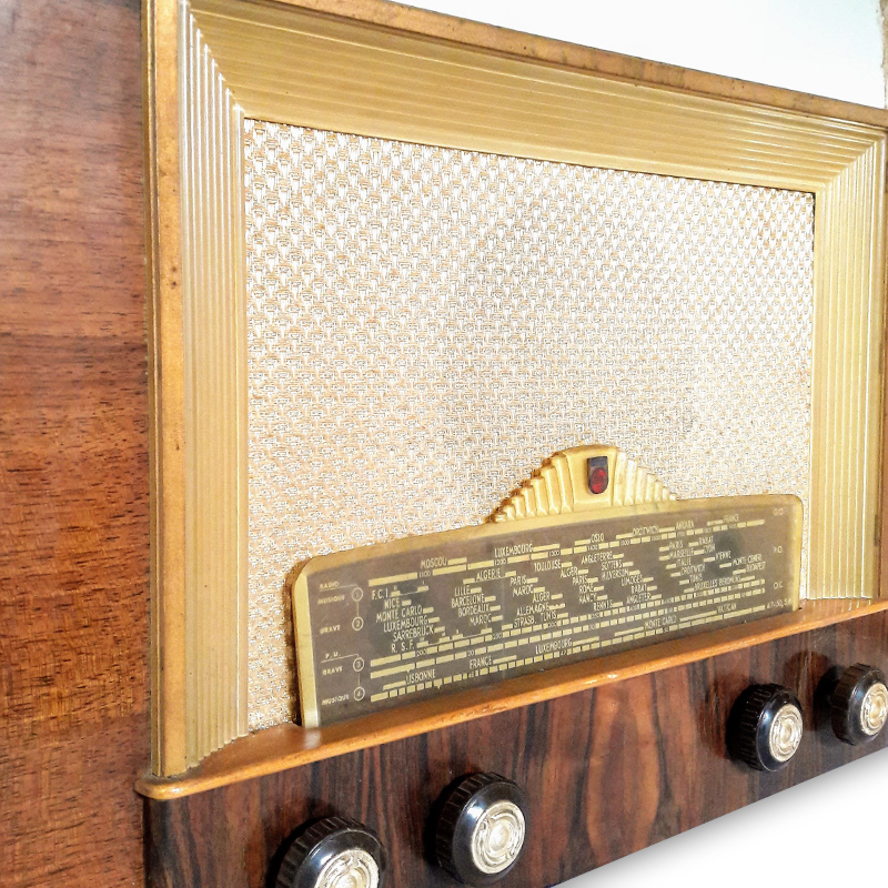 philips 1951 radio vintage bluetooth LES DOYENS