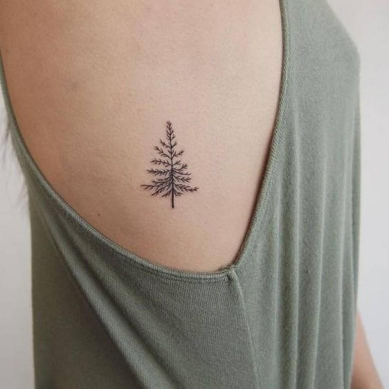 Minimal Mountain Tattoo Small Men