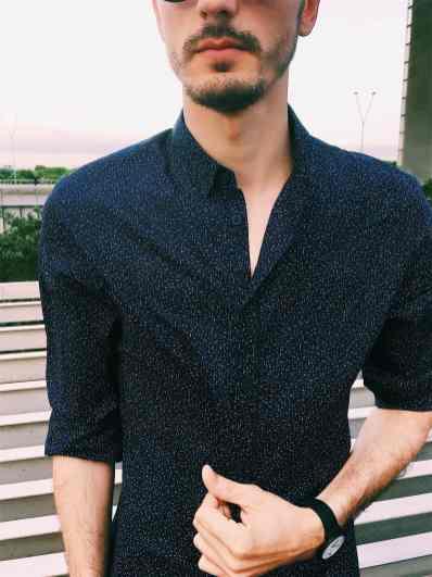 IKKS - Chemise bleue homme