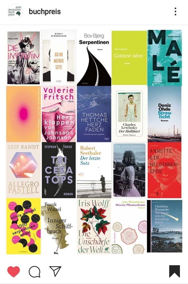 Deutscher Buchpreis Longlist
