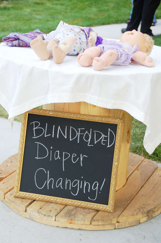 Blindfolded Baby Changing
