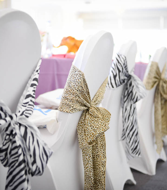 Animal Print Table Bows