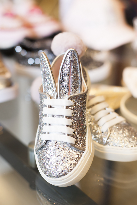 CHILDRENSALON SPARKLEY BUNNY SHOES