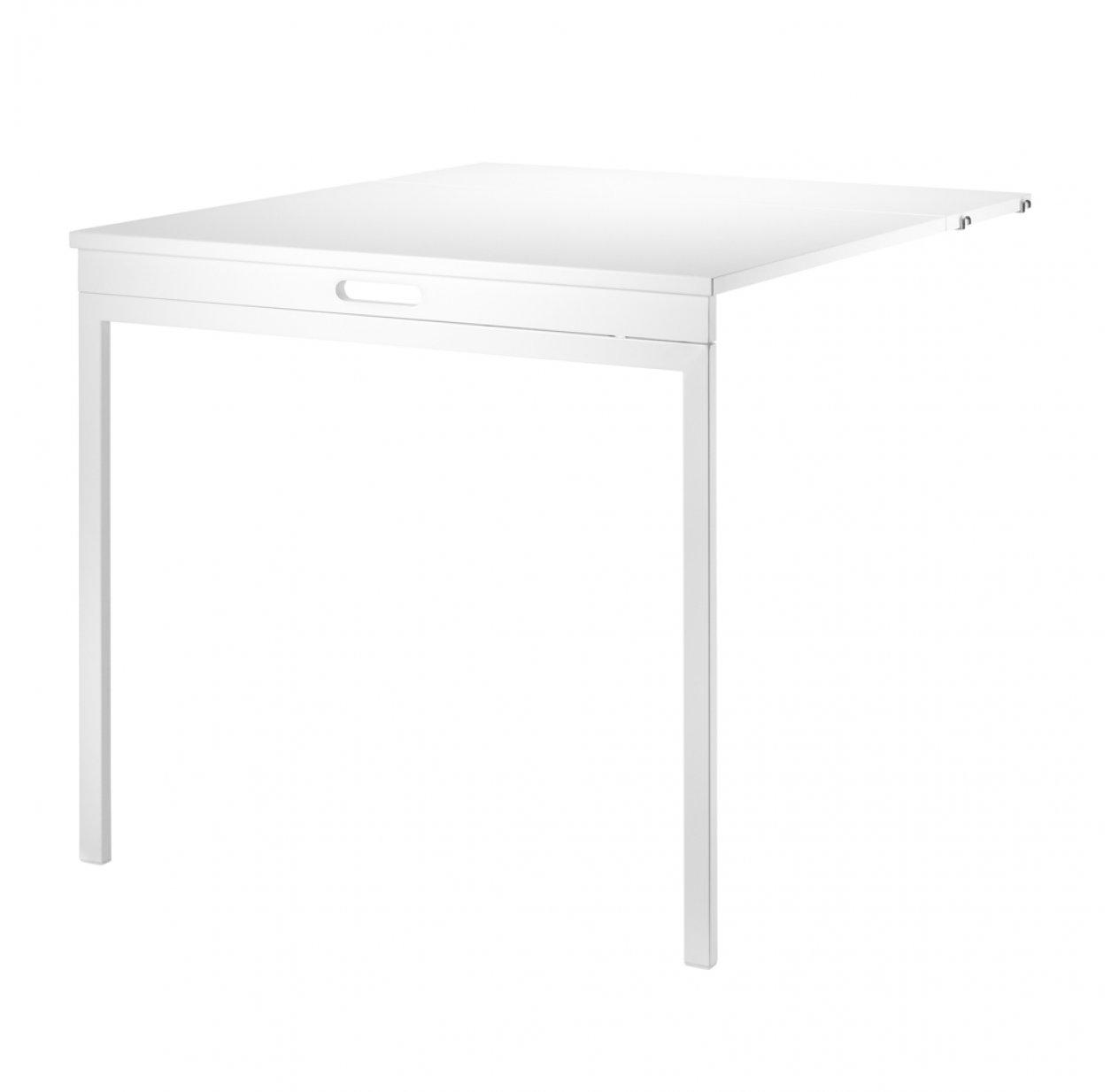 table murale pliante blanc